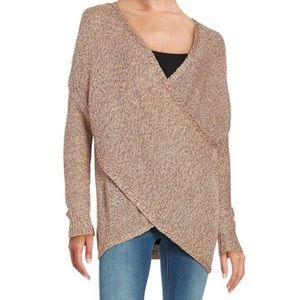 Design Lab Grey Cross-Front Knit Sweater